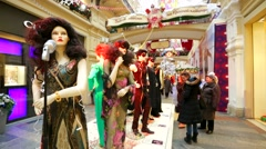 Costumes exhibition Stock Footage