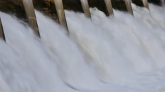 4k Hydro Electric Dam Spillway, medium close shot 2 Stock Footage