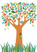 Fancy Tree colorful Stock Illustration