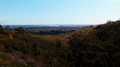 Stock Video Footage of View From The Darling Scarp Towards Perth City