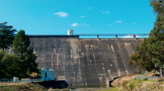 Time Lapse of the Mundaring Weir Dam Wall Stock Footage
