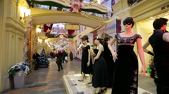 Public exhibition of costumes - stock footage