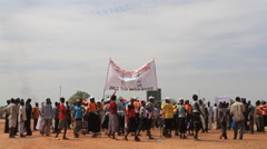 Protesters Gathering in SOUTH SUDAN, AFRICA Stock Footage