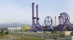 Sochi Park - theme park Stock Footage
