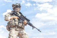 United States paratrooper - stock photo