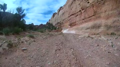 Off roading Time-lapse Upper Muley Twist Canyon Stock Footage