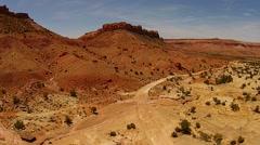 Utah Desert Landscape Winding Roads Giant boulders Stock Footage