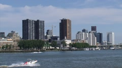 ROTTERDAM  skyline Maritime Quarter with historic and modern architecture Stock Footage