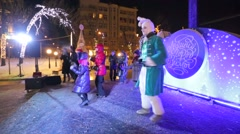 "Christmas theatrical performance ""Urban Mysteries"" Stock Footage"