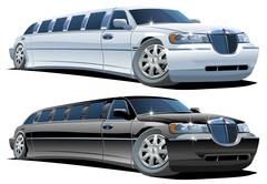 Cartoon limousine Piirros