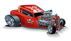Cartoon retro hot rod Stock Illustration
