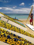 Surfer on Waikiki Beach - Honolulu - Hawaii Kuvituskuvat