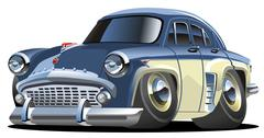 Cartoon retro car Stock Illustration