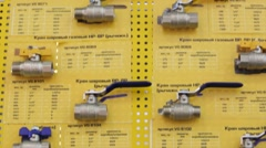 Set of plumbing parts Stock Footage