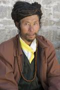 Pilgrim at Sera Monastery - Tibet - stock photo