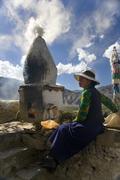 Buddhist Shrine - Tibet Stock Photos