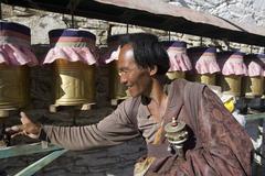 Yambulagang Buddhist Monastery - Tibet Stock Photos