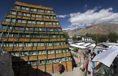Palhalupuk Temple - Lhasa - Tibet Stock Photos