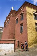 Ganden Monastary - Tibet Stock Photos