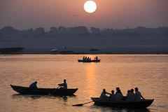 River Ganges - Varanasi - India Stock Photos