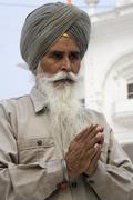 Sikh man at the Akal Takht - Amritsar - India - stock photo