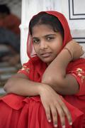 Young Sikh girl - Amritsar - India - stock photo