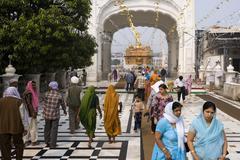Golden Temple of Amritsar - India - stock photo