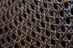 Rattan pattern background Stock Photos