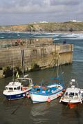 Newquay Harbor - Cornwall - United Kingdom Stock Photos