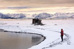 Raudfjord in the Svalbard Islands - Spitsbergen Stock Photos