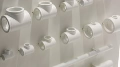 Set of plumbing parts Stock Footage