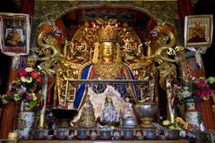 Samye Monastery in Tibet Stock Photos