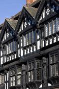 Stock Photo of Tudor buildings - Chester - England