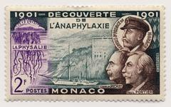 Old Postage stamp from Monaco Stock Photos