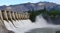 4k Hydro Electric Dam, wide shot 1 - stock footage
