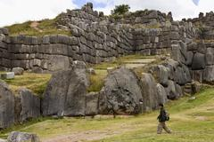 Inca stonework - Sacsayhuaman - Peru - stock photo