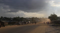 Busy Road at Dusk in JUBA, SOUTH SUDAN Stock Footage