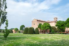 Certosa of Ferrara, the ancient graveyard of the city Stock Photos