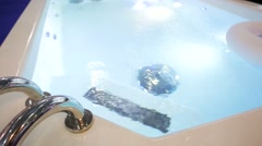 Jacuzzi bathtub Stock Footage