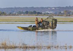 Border Patrol - Border of Botswana and Namibia - stock photo