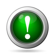 Stock Illustration of Attention icon. Internet button on white background.