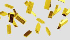 Flying golden bricks. Looping. Alpha channel is included. Stock Footage