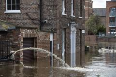York Floods - United Kingdom - stock photo