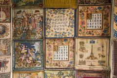 French Tapestry Samples - stock photo