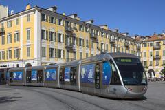 Stock Photo of Tram in the city of Nice - France