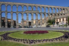 The Roman Aqueduct in Segovia - Spain Stock Photos