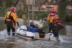 Yorkshire Flooding - England - stock photo