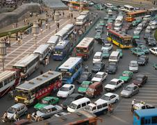 Chinese Traffic Chaos Stock Photos