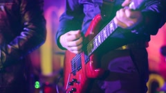 Guitar in live action - stock footage