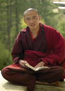 Buddhist Monk - Kingdom of Bhutan Stock Photos